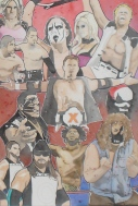For Sale- TNA Classic Roster: 30x40 watercolor