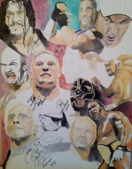 For Sale- WWE Classic Roster: 30x40 watercolor