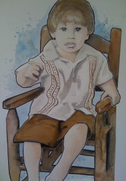 Massimo Chair: 20x30 watercolor