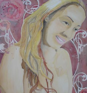 Mila: 30x40 watercolor