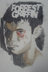 Forrest Griffin: 20x30 watercolor