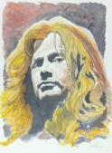 Dave Mustaine: 20x30 watercolor