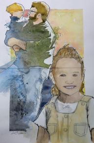 12x16 watercolor