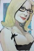 Nina Hartley: 20x30 watercolor