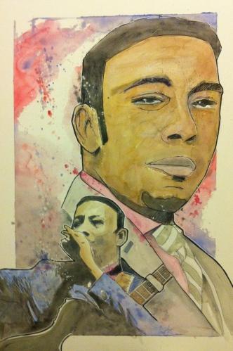 Anthony Santos: 20x30 watercolor