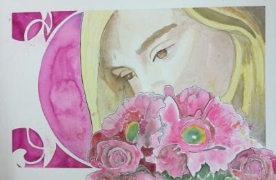 Gina: 20x30 watercolor