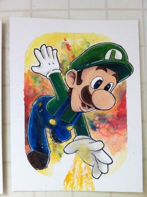 Luigi: 15x20 Gouche & Ink
