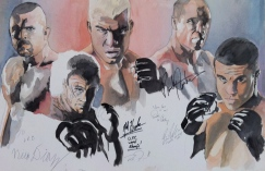 Ultimate Fighters: 20x30 watercolor