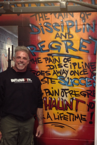 Ultimate Warrior visits the gym.