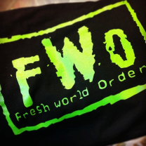 Fresh World Order t-shirt now available $15.00 plus ship/handling. Get yours today!